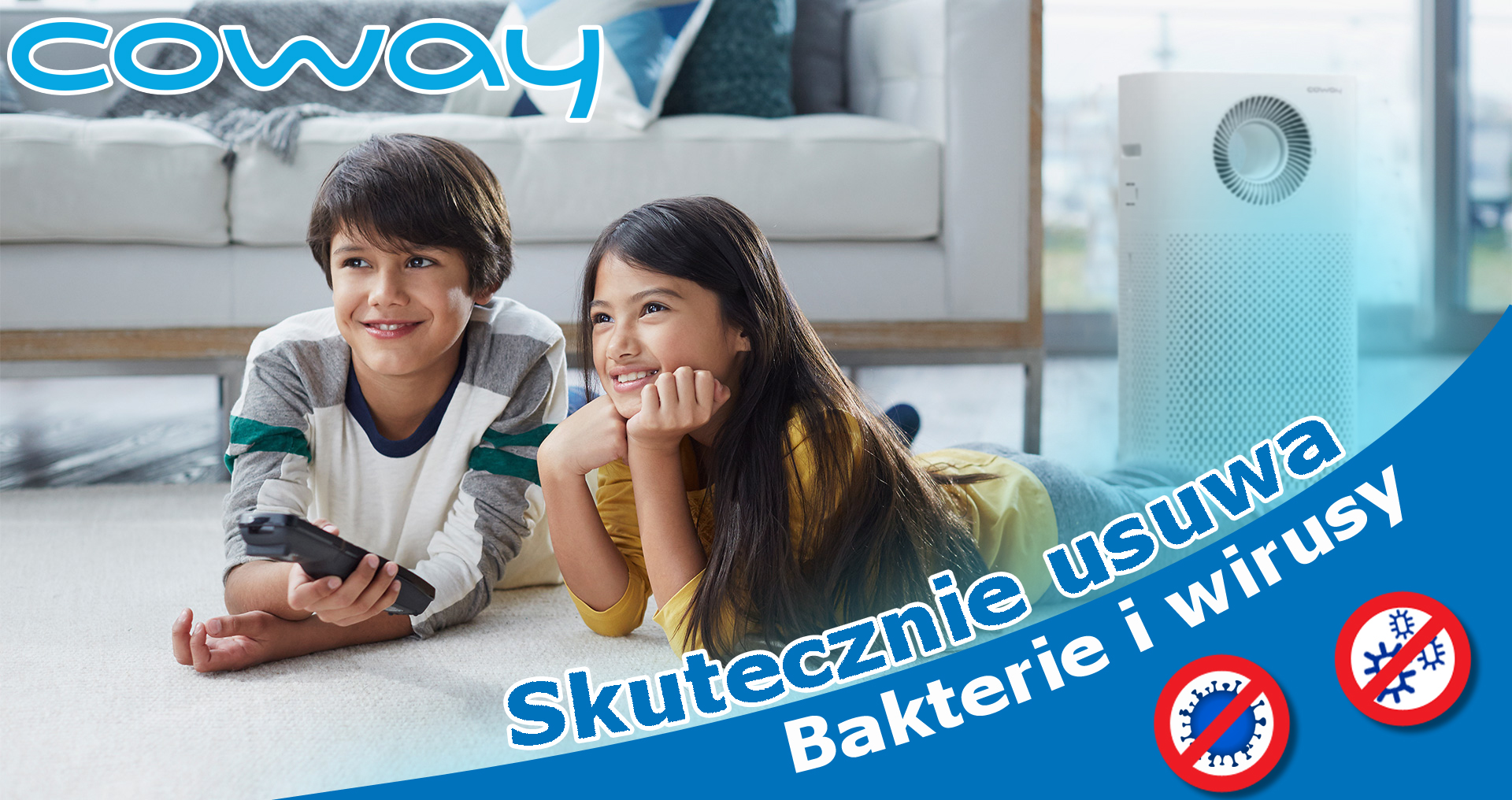 Coway Storm na wirusy i bakterie